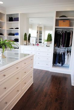 Closet with island-Circle Park Place - traditional - closet - raleigh - Will Johnson Building Company