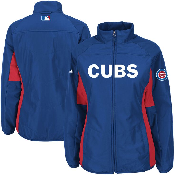 Chicago Cubs Majestic Women's Authentic Collection Double Climate Full Zip Jacket - Royal