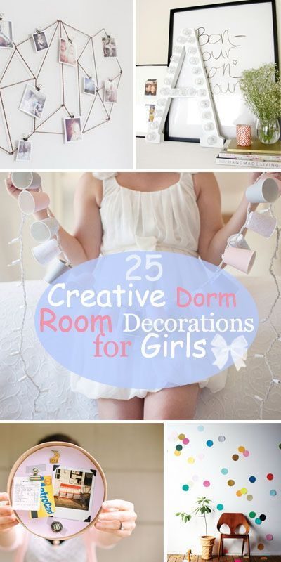 25 Creative Dorm Room Decorations for Girls! http://www.delphian.org/
