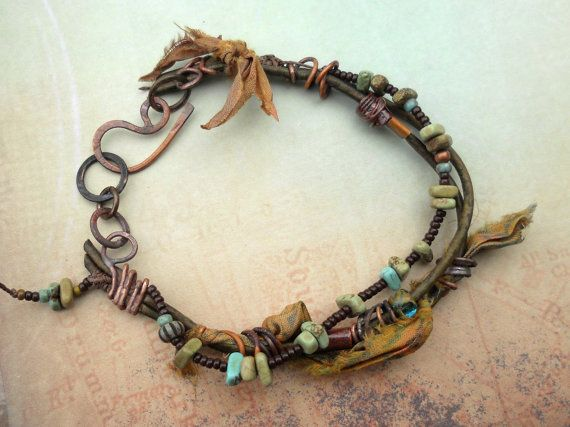 Earthy Leather and Gemstone Casual by ContentsJewelry on Etsy