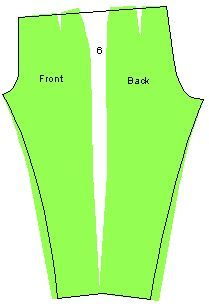 Modo de colocar el patrón para hacer el pantalón sin costura en los laterales.
