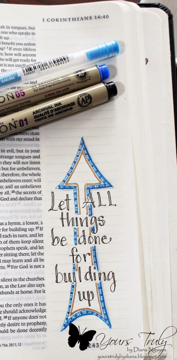 Bible journaling can highlight the verse that jumps out to you, it can be simple or complex, whatever helps you study the Word! #biblejournalingideas