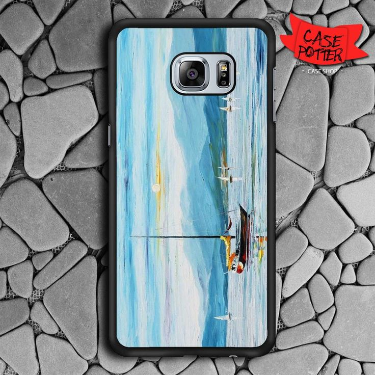 Blue Sky Samsung Galaxy S6 Edge Plus Black Case