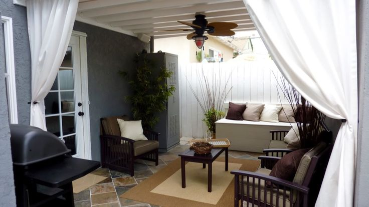 Back patio ideas - adorable for a small space: Idea, Outdoor Living, Outdoor Patio, Living Room, Outdoor Room, Outdoors Deck Patio Space, Garden