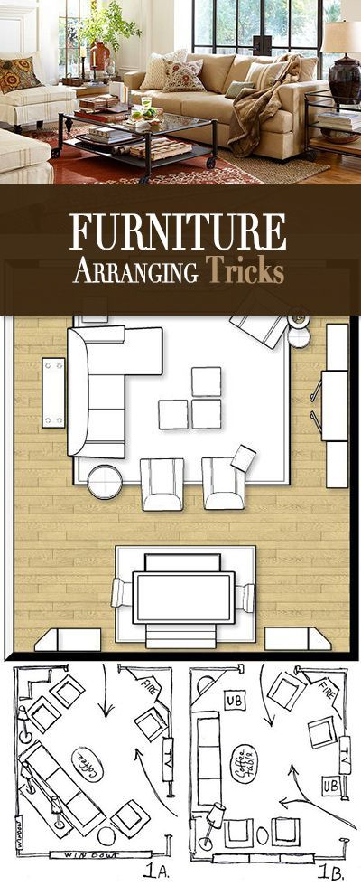 Furniture arranging tricks awesome furniture and layout for Square living room furniture layout
