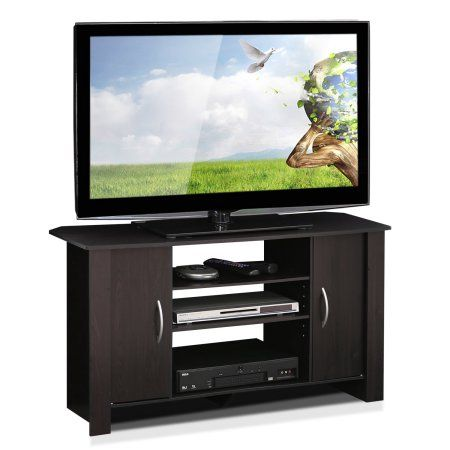 Furinno Econ Espresso TV Stand Entertainment Center for TVs up to 42 inch, Brown