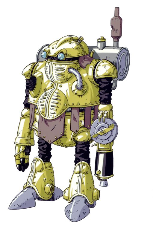 "Akira Toriyama's illustration of Robo, the sentient robot from the future, in SquareSoft's brilliant 1995 console-RPG ""Chrono Trigger,"" released for the Super Nintendo Entertainment System"