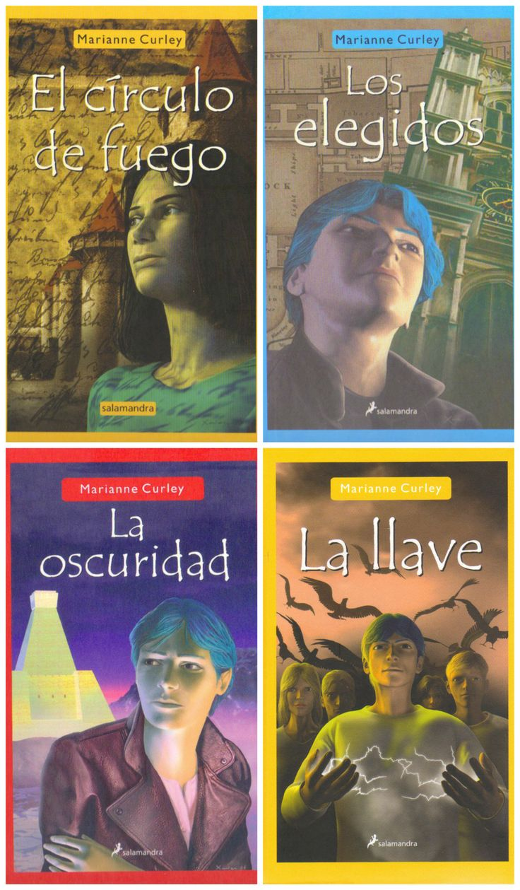 The Spanish covers for The Guardians of Time - The Named, The Dark and The Key with Old Magic Spanish edition at the top left corner.