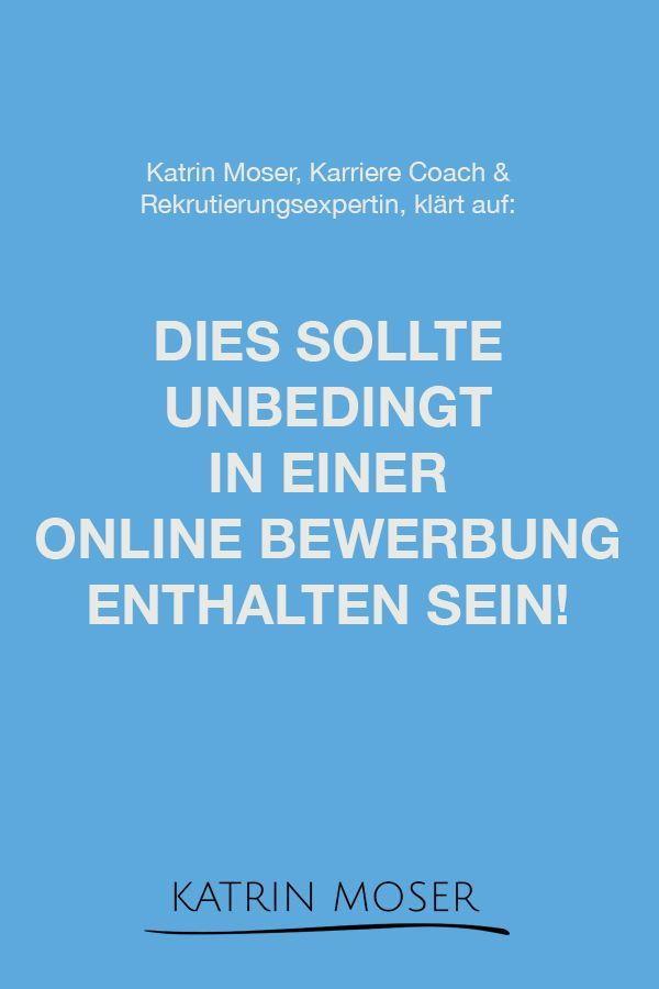 Katrin Moser Karriereexperte On Instagram Diese Unterlagen Sollten Unbedingt In Einer Online Bew In 2020 Let It Be