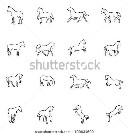 horse line drawing abstract - Google zoeken