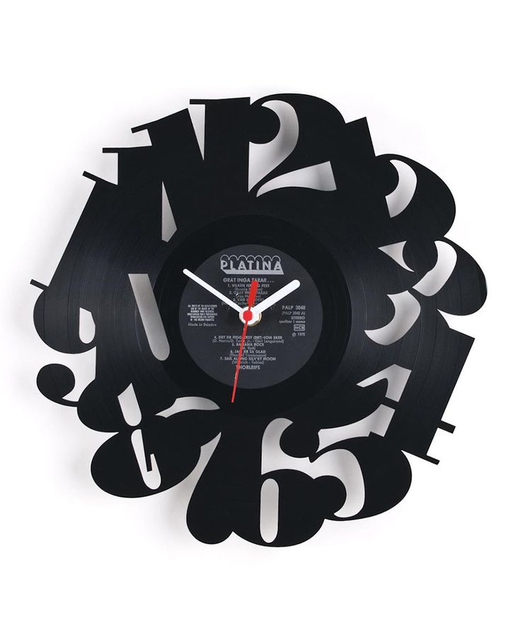 Vinyl Record Repurposed into Clocks by Pavel Sidorenko 31% off at www.dotandbo.com