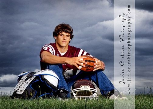 Senior Picture Ideas For Guys | football/sports | Guys Senior Portrait Ideas