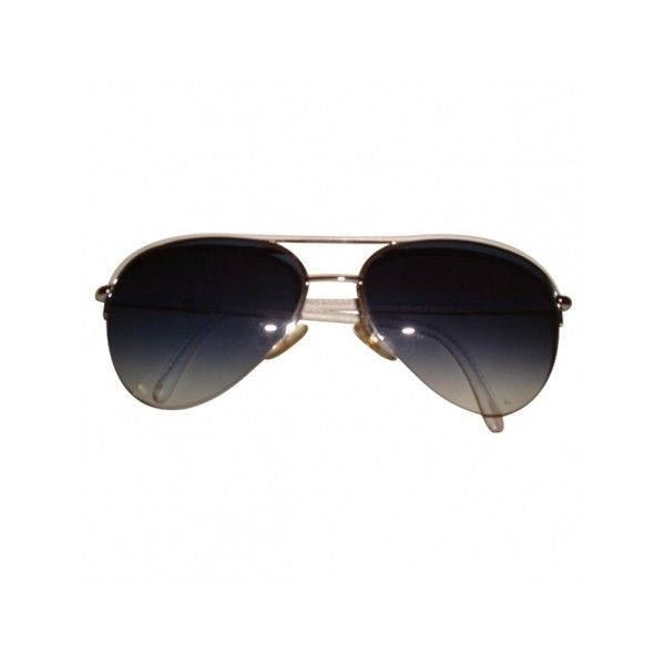 Pre-owned Cutler & Gross Sunglasses (490 PEN) ❤ liked on Polyvore featuring accessories, eyewear, sunglasses, aviator style sunglasses, blue sunglasses, cutler and gross, white sunglasses and summer sunglasses
