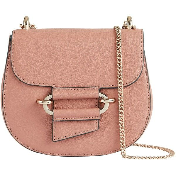 72161cd6a66c Reiss Mini Maltby Leather Crossbody Bag (700 BRL) ❤ liked on Polyvore  featuring bags