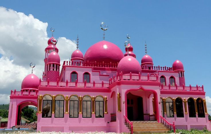 """Mindanao's first ever """"pink mosque,"""" located in Maguidanao, will be opened to public use on the first day of Ramadan."""