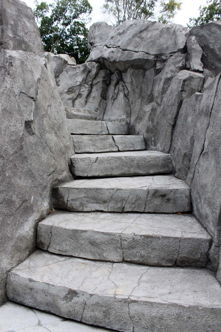 Carved Stone Steps : Best faux rock images on pinterest