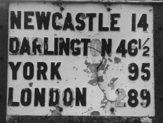 Road sign, Morpeth,Northumberland