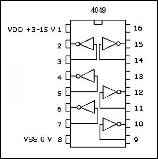 12V to 24V DC Converter Circuit using Hex Inverter IC