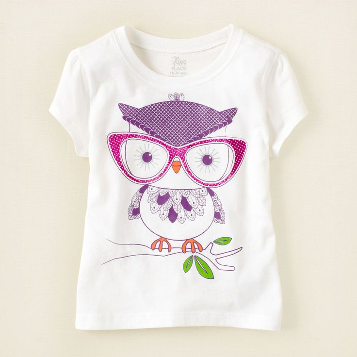 baby girl - graphic tees - owl graphic tee | Children's Clothing | Kids Clothes | The Children's Place