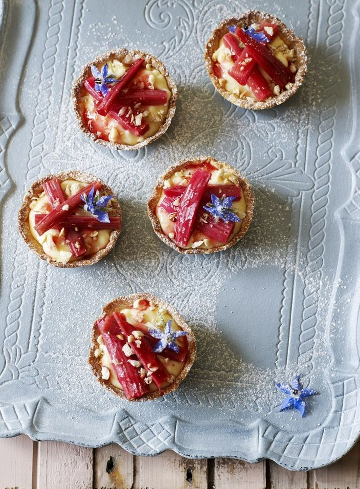 This recipe does have several components, but the custard and rhubarb can be made two days ahead to make the final assembly a simple put-together.