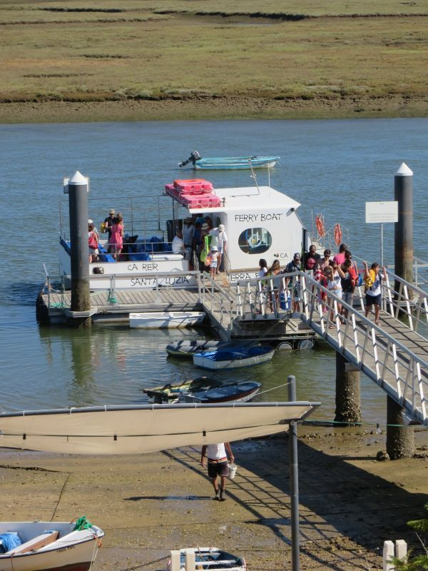 The ferry runs during the summer months carrying tourists and locals alike to Praia de Terra Estreita. The most wonderful beach!!