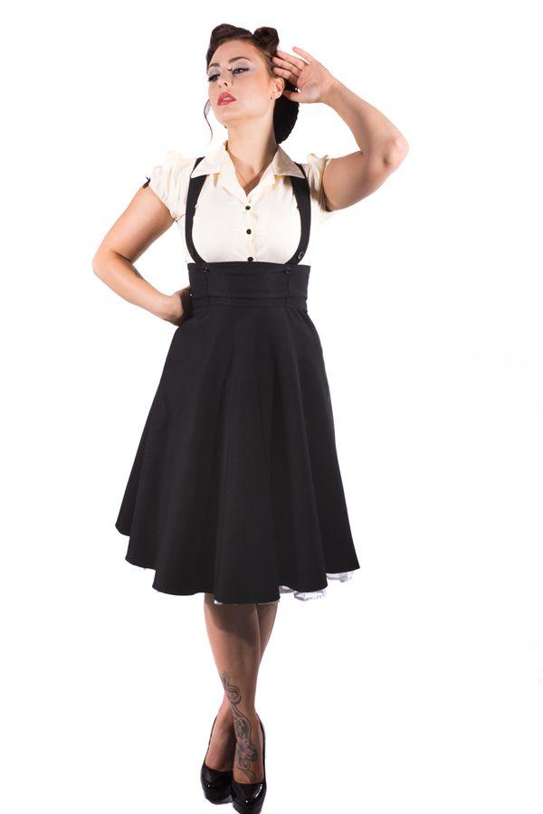 9f9836eb15 High waist skirt with straps | Vintage Fashion | Fashion, Clothes, High  waisted skirt