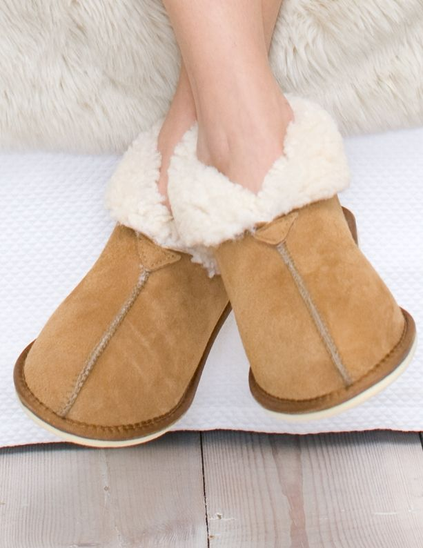 Ladies' Sheepskin Bootee Slippers | Slippers