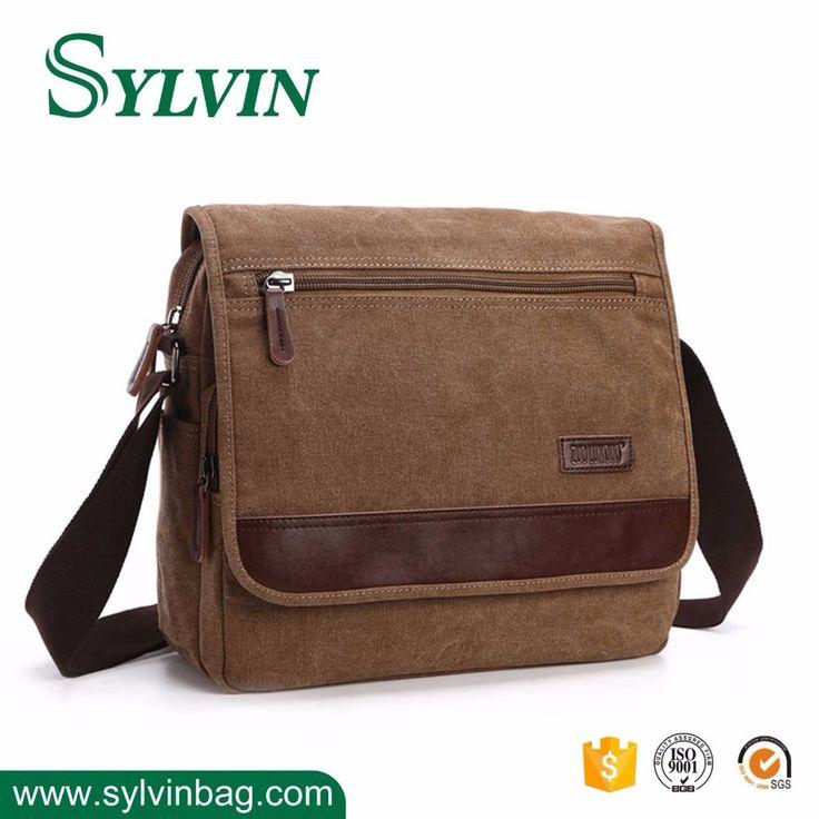 Mens Canvas Laptop Bag Messenger Sling Shoulder Bag Factory Price
