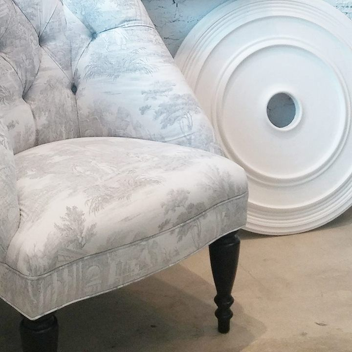 Our Colette Chair In Reverse Toile | Darryl Carter. Furniture ...