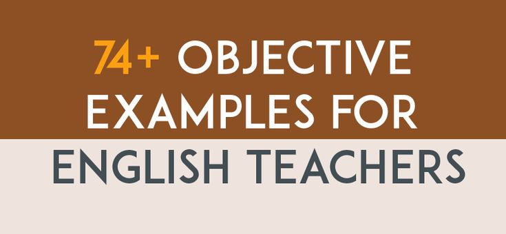 Resume objective examples for English Teachers