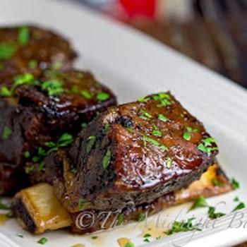 Slow Cooker Maple Glazed Short Ribs Recipe from The Midnight Baker - Dinner Party Menu Photo Sites