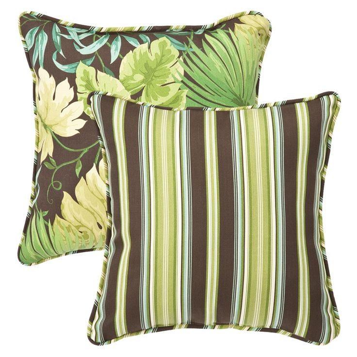 green 185inch throw pillow set of 2