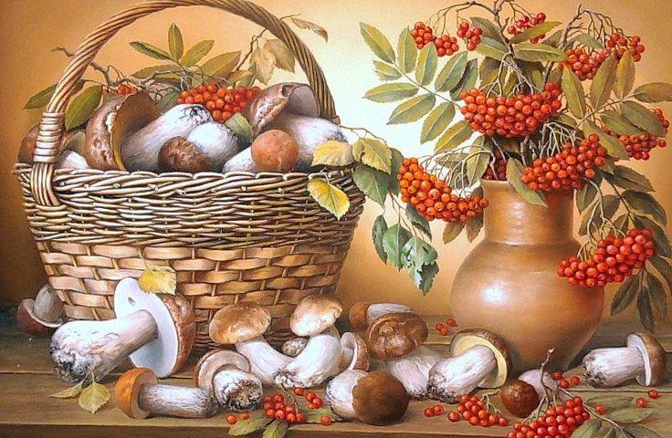 грибы в живописи: 25 тыс изображений найдено в Яндекс.Картинках