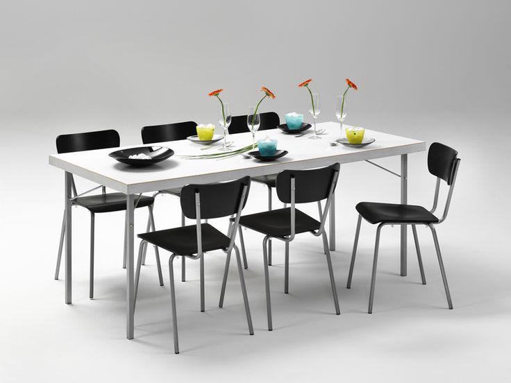 Partybord i vitt och med träfiberskiva - Fixbordet