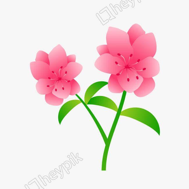 Cartoon Pink Flowers Vector Picture Png Vector Image Vector Flowers Pink Flowers Flower Download