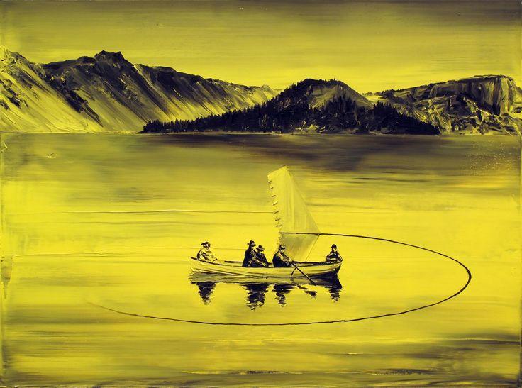 Paco Pomet - Naufragio (Óleo-lienzo/Oil-Canvas. 60 x 80 cms. 2012)