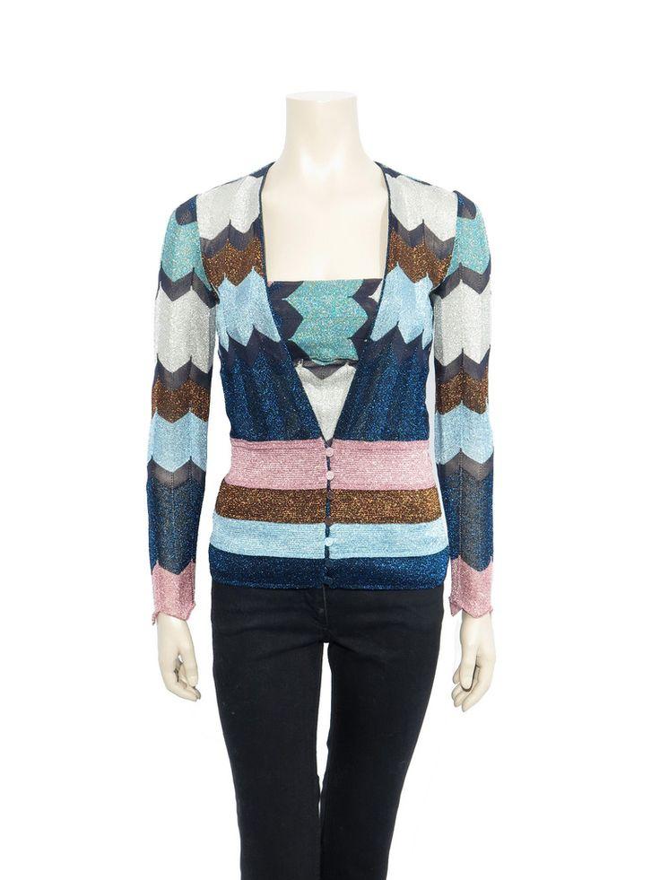 Missoni Shimmer Knit Cardigan www.sabrinascloset.com