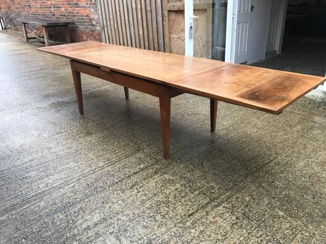 Beautiful 19th Century Cherry Double Extending Table Seats 8 People Comfortably When Closed The Ta Dining Table French Farmhouse Dining Table Extending Table