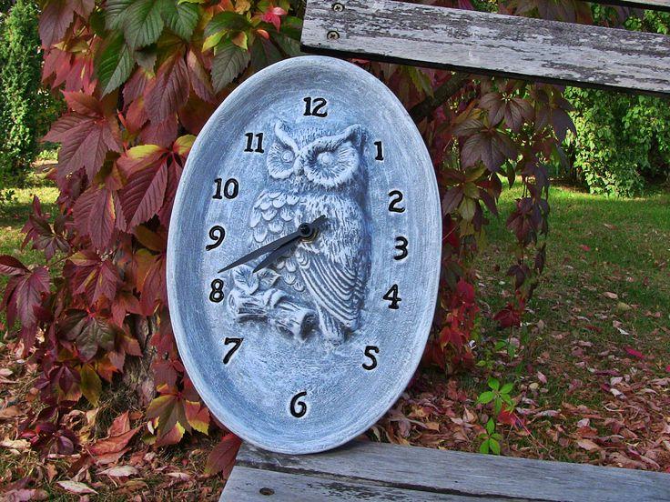 Beautiful ceramic clock with owl. Wonderful gift idea.