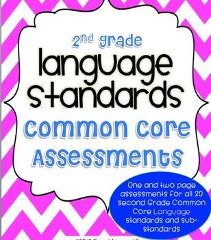 2nd Grade Common Core ELA Language Assessment (ALL 20 Language Standards) $