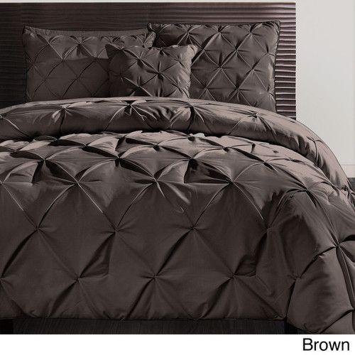 Beautiful Modern Textured Chocolate Brown Comforter Set New Queen King Szs | eBay $130