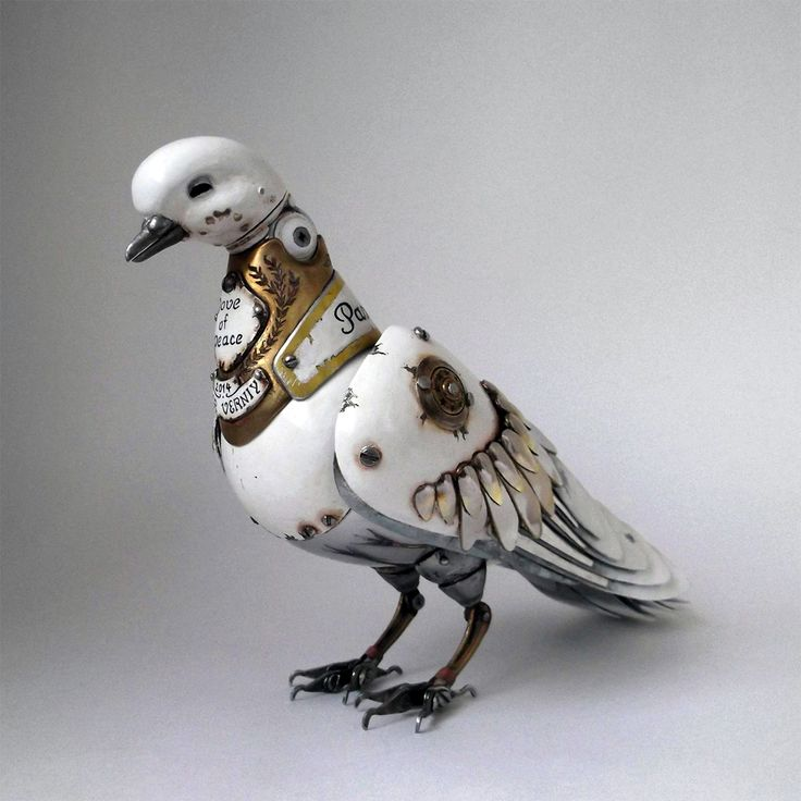 Russian artist Igor Verniy creates beautiful steampunk animal sculptures out of metal parts from cars, clocks, appliances, and electronics. The joints on many of Verniy's sculptures are functional,...