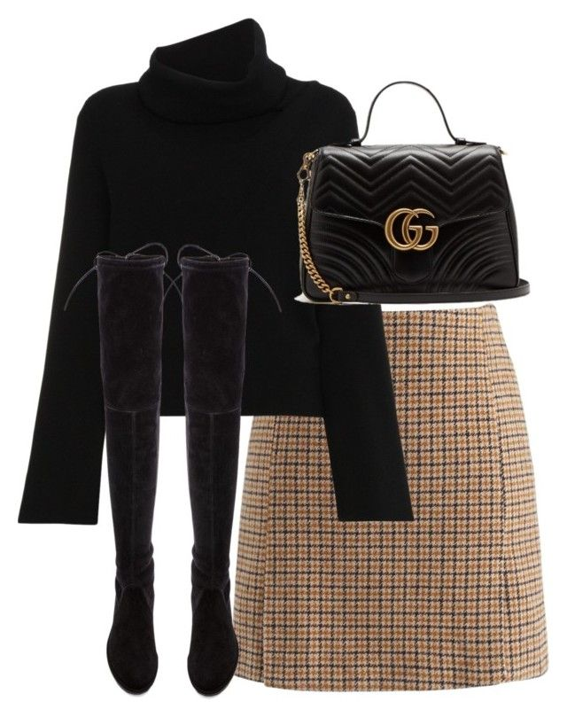 """""""Untitled #5401"""" by theeuropeancloset on Polyvore featuring Chicwish, Chloé, Stuart Weitzman and Gucci"""