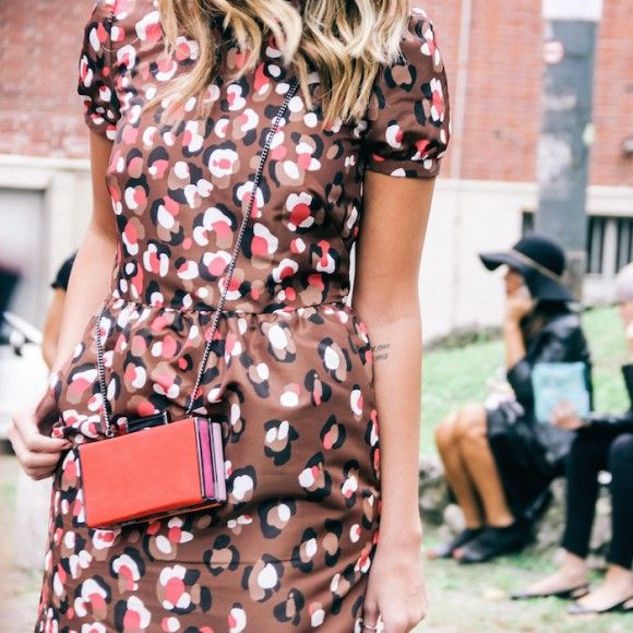 Street Style Details of Milan Fashion Week - Red Valentino Fall Winter 2014 2015 dress
