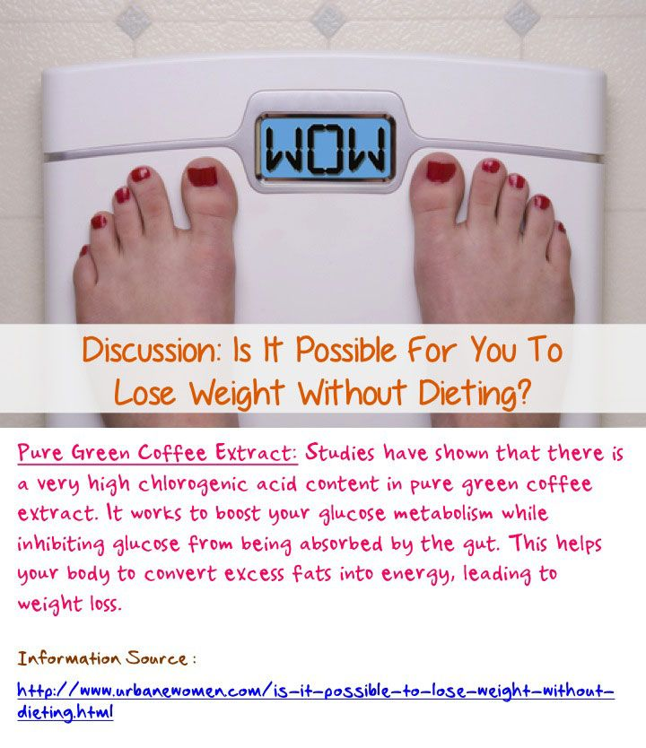 Discussion: Is it possible for you to lose weight without dieting? - Pure green tea coffee extract contains a very high chlorogenic acid content, which helps your body convert excess fats into energy, leading to weight loss... Read on: http://www.urbanewomen.com/is-it-possible-to-lose-weight-without-dieting.html