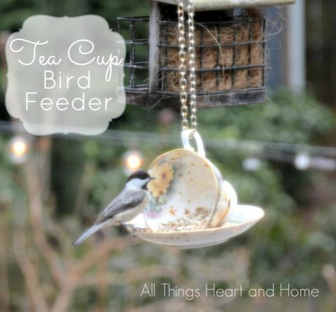 Spring DIY Projects - Bird Feeders, Beach Glass Jars and Vases! - All Things Heart and Home