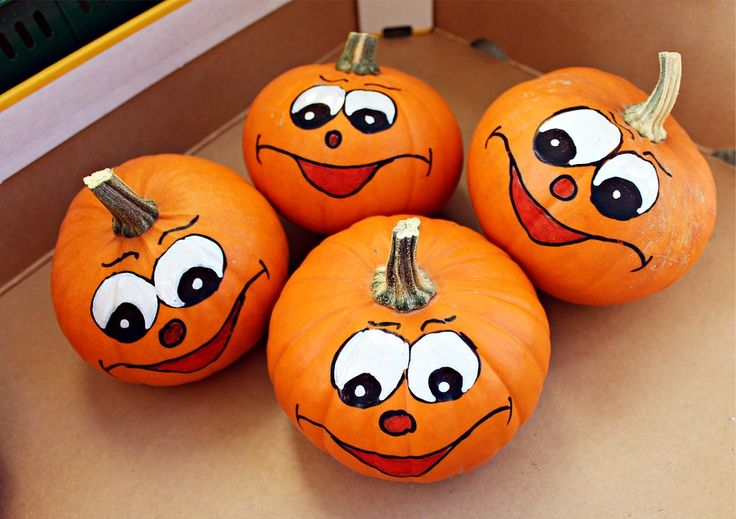 How To Paint Pumpkins for Halloween.