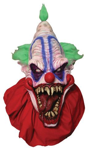 MASTER BIG TOP CLOWN MASK- Full Over The Head Realistic Halloween MASK