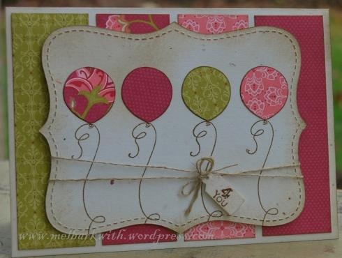 Top Note balloon card