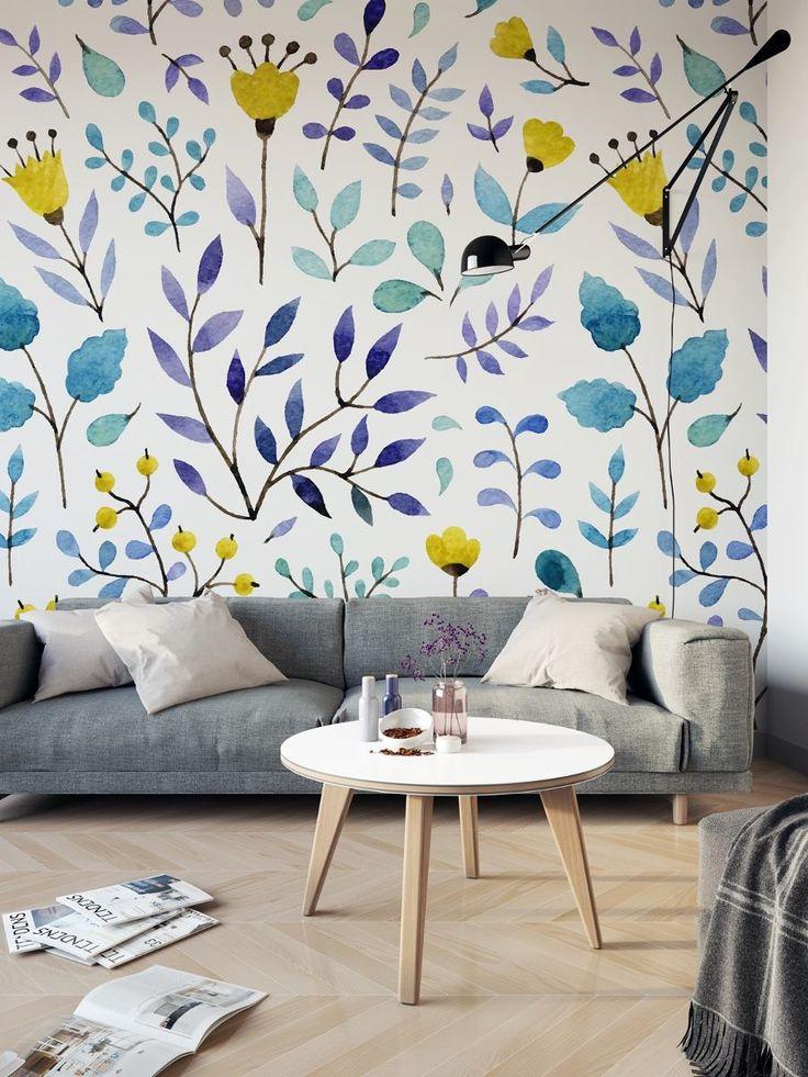 vinil decorativo tipo papel tapiz / vintage floral / et132